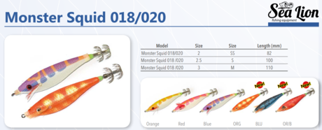 SQUID JIG-3030-022-S/2.5 RED