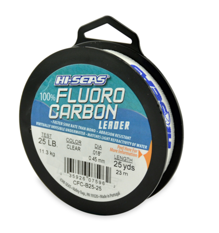 FLUORO CARBON LEADER-0.45mm 25LB-25YD