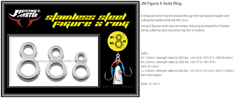 J.M. SS 8 FIGURE RING 350LB/10PC-M