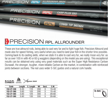 MATCH 3D PRECISION ALLROUND 3.6M/40g-152-27-360 trab.