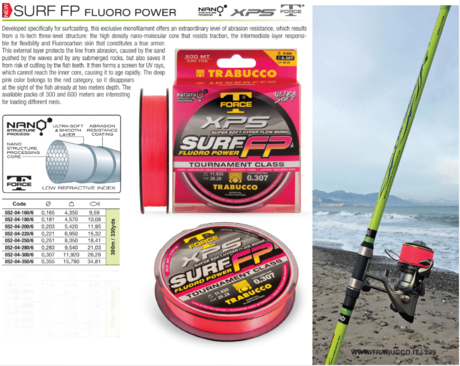XPS SURF FLUORO POWER -300m 052-04-250  trab