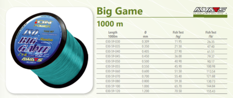 BIG GAME BLUE 1000m-1mm-AWA