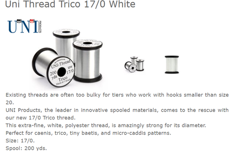 17/0 Trico Thread 200y White UNI