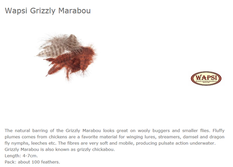 GRIZZLY MARABOU -GOLDBROWN MG050
