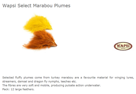 SELECT MARABOU PLUMES-BLACK MA100
