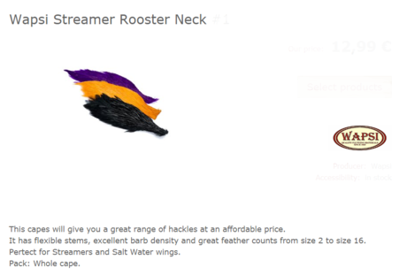 STREAMER ROOSTER NECK-OLIVE GREEN CNV089
